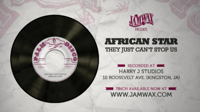 "African Star / Sylvan Morris - They Just Can't Stop Us / Whip Lash - 7"" Jamwax"