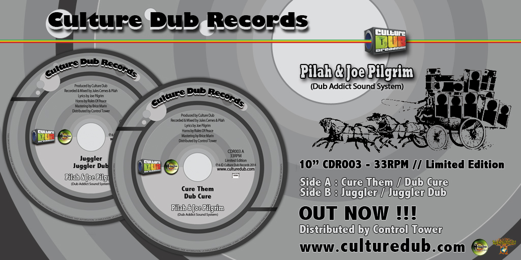 "Pilah & Joe Pilgrim - 10"" Culture Dub Records CDR003"