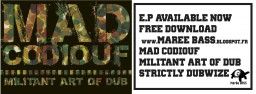 image version medium: Mad Codiouf - Militant Art of Dub ban