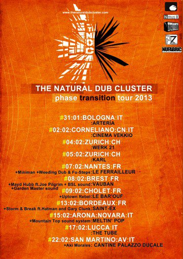 The Natural Dub Cluster - Phase Transition Tour 2013